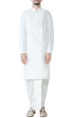 off-white spun silk dhoti
