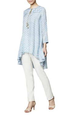 Powder blue modal blouse