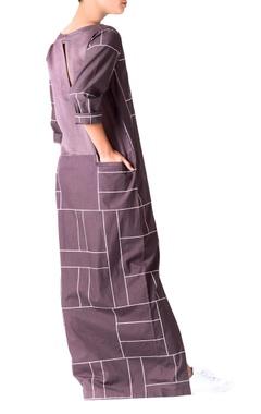 Charcoal grey poplin dress