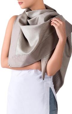 sage green polka dot scarf