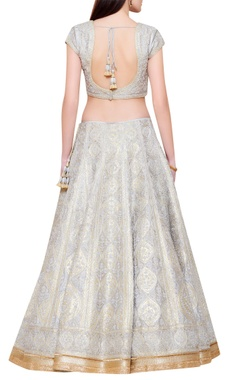 silver & grey dori embroidered lehenga set