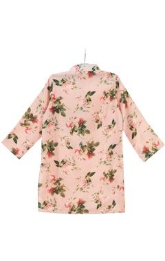 Peach floral printed kurta
