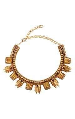 Malleka Gold plated choker necklace