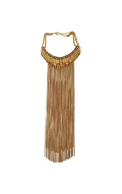 Malleka Gold plated statement necklace