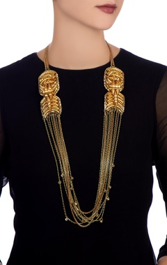 Gold plated matinee necklace