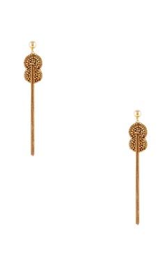 Malleka Gold plated dangler earrings