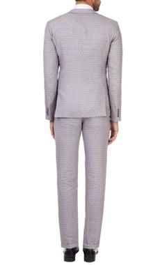 Grey printed linen suit