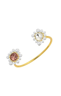 Gold plated Isharaya desert pearl cuff bangle