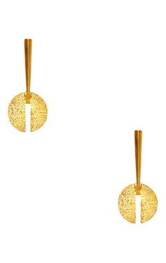 Flower Child by Shaheen Abbas Gold plated long dangling earrings