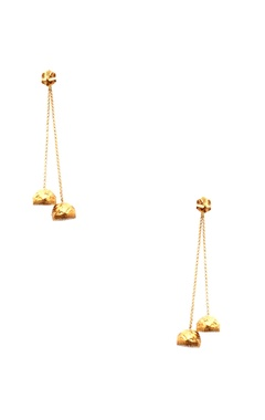 gold plated dual jhumka earrings