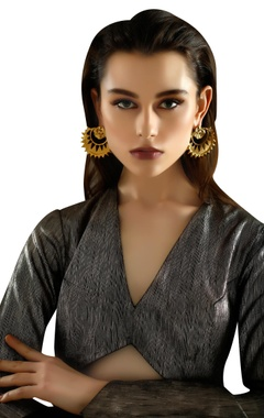 gold plated revamped chandbaali earrings