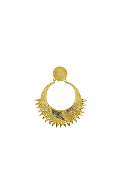 gold plated chandbaali earrings