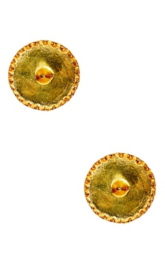 gold plated circular earrings