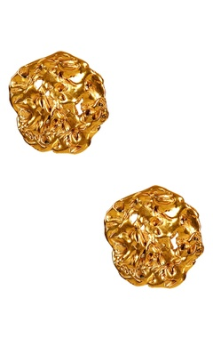 gold plated ear-top earrings