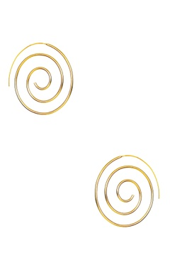 gold plated crazy hoop earrings