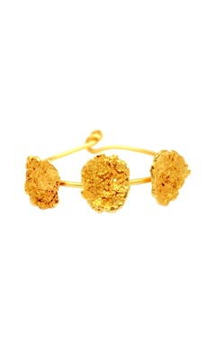 Flower Child by Shaheen Abbas Gold plated cuff bracelet
