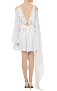 White cotton butterfly style dress