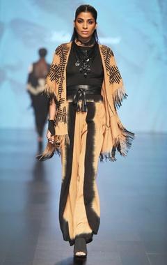 Malini Ramani Black long sleeve turtleneck jersey top