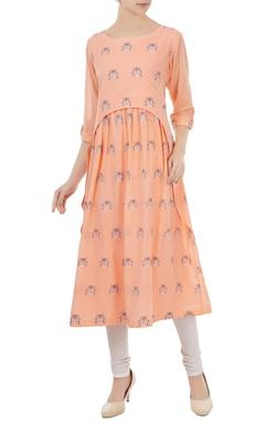 Sayantan Sarkar Tangerine cotton jamdani ladybug weave tunic