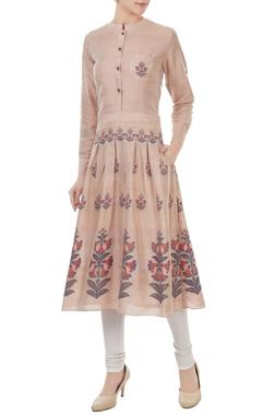 Sayantan Sarkar Mauve silk jamdani floral weave tunic