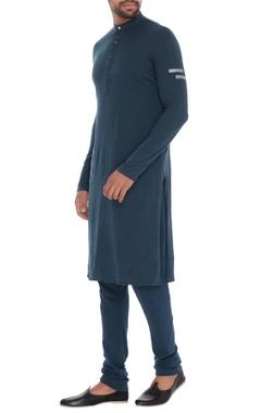 Teal rayon flex elastic waist unisex churidar