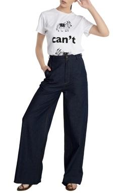 Masaba Blue denim flared jeans