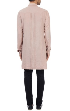 Dusty salmon military kurta