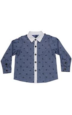 Blue zebra print shirt