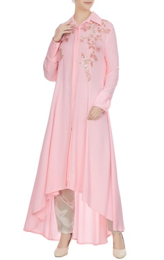 Manish Malhotra Pink double georgette sequin embroidered tunic