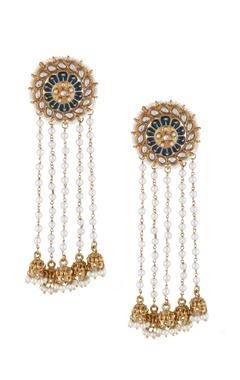 Shilpa Purii Multi-colored alloy meena stud earring