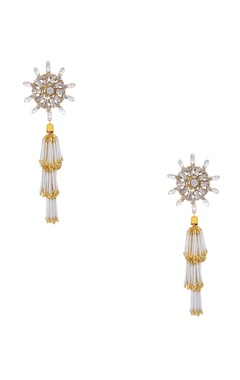 Gold plated swarovski crystal earrings
