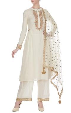 Cream gota embroidered kurta set
