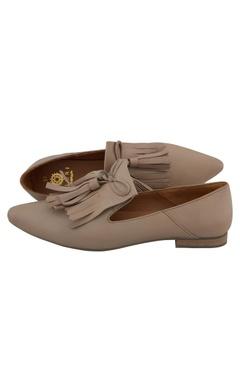Duna leather tasseled ballerinas