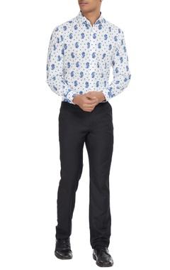Paresh Lamba Paisley motifs printed shirt.