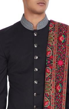 Thread embroidered shawl.