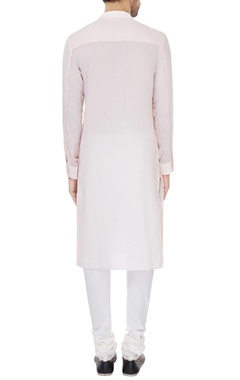 Light pink cotton solid kurta with cotton lycra churidar