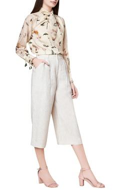 Cream cotton & silk handwoven blouse