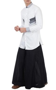 Vivek Karunakaran White poplin applique shirt
