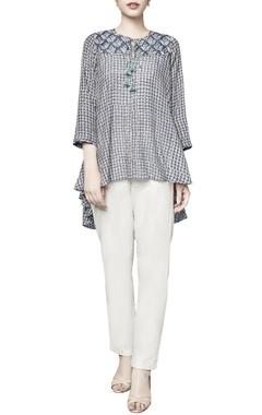 Grey modal printed mihira blouse