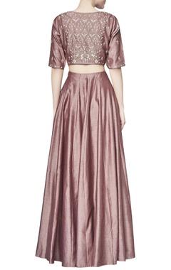 Marsala chanderi silk vaanya skirt with top