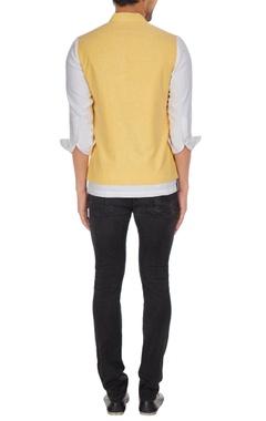 Shirt style kurta with waistcoat jacket