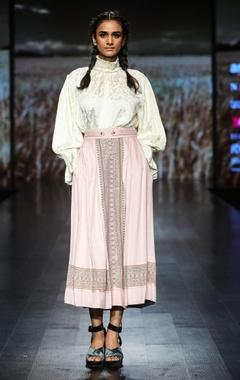 Shruti Sancheti Turtleneck peasant style blouse