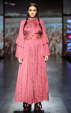 Shruti Sancheti Gathered maxi dress with printed belt