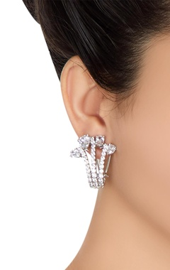 Shiny stud encrusted earrings