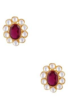 Khushi Jewels Oversized floral stud earrings