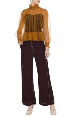 Plum high waist flared pants