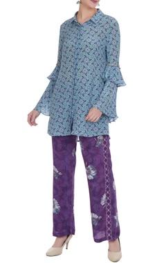 Anushka Khanna Tropical printed elastic waist pants