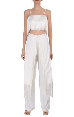 Deme by Gabriella Tassel high waist tailored trousers