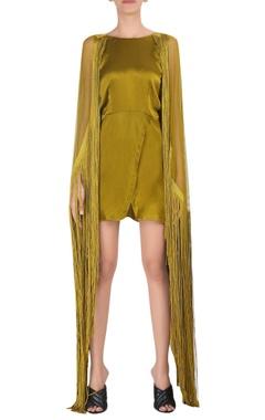 Deme by Gabriella Satin tassel detail mini dress