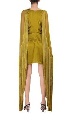 Satin tassel detail mini dress